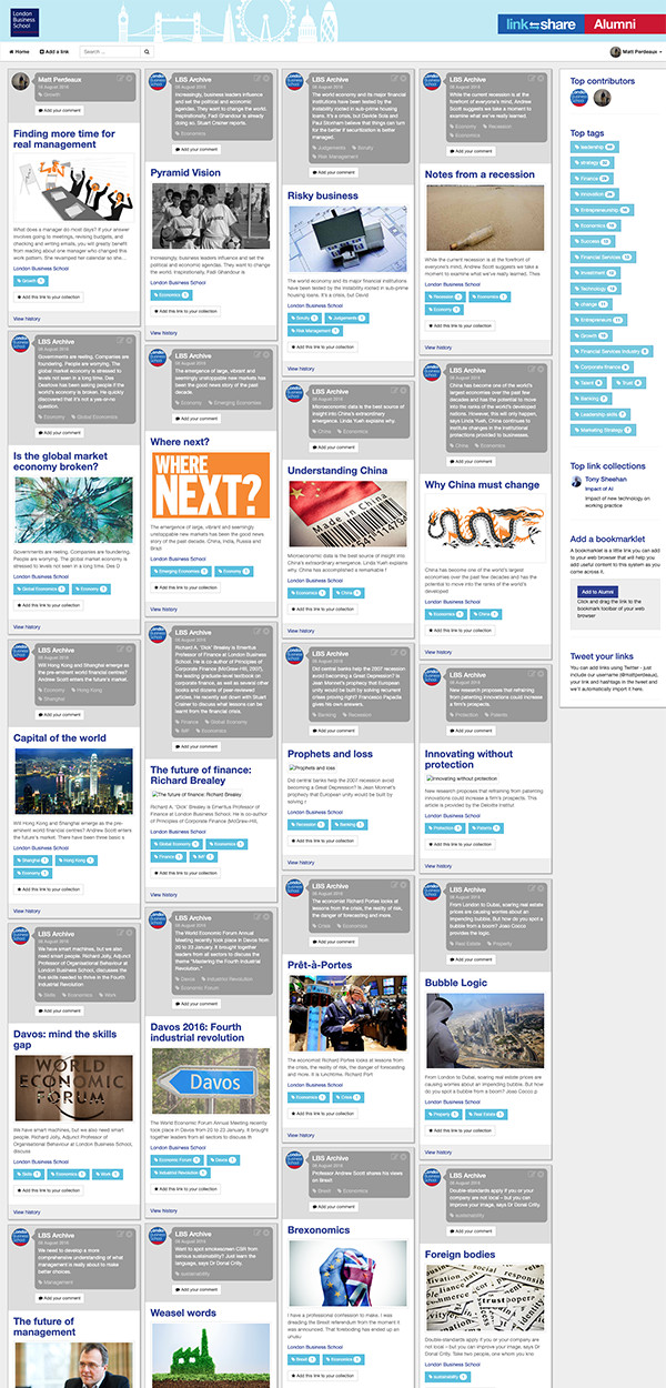 Satellite site home page