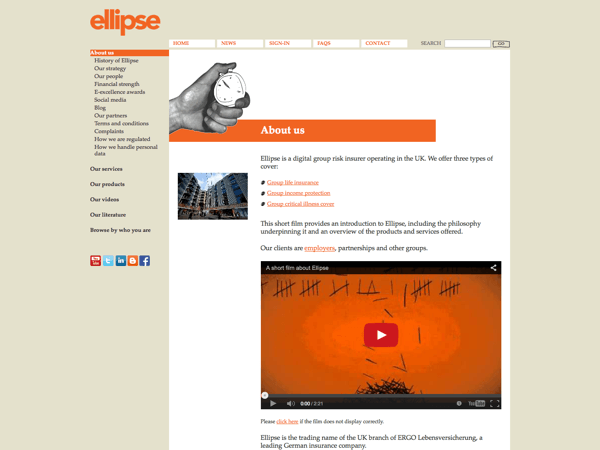 Ellipse Website and CMS
