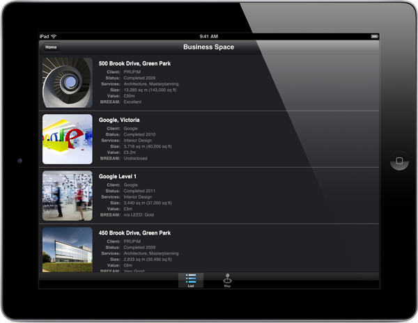 Scott Brownrigg App for iPad